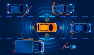 self-driving autonomous vehicle in traffic