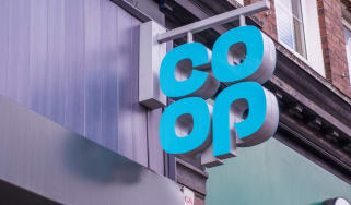 Co-op shop sign