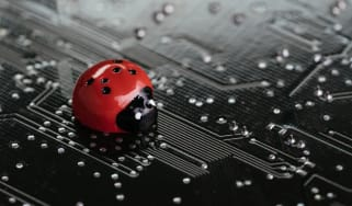 Fake ladybug on a circuit board
