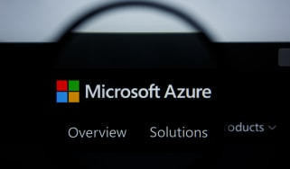 Microsoft Azure on a black background