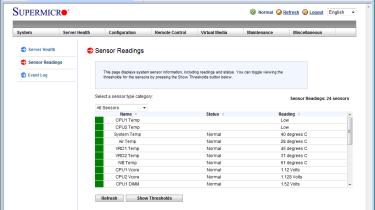 Each node's RMM provides full server health monitoring and alerting facilities.