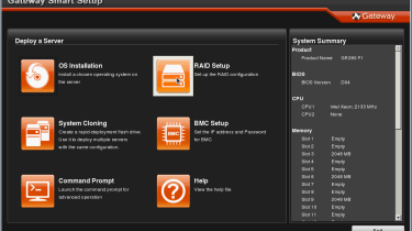 Gateway's Smart Setup CD provides help with OS installation along with diagnostics tools.