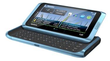 The Nokia E7's slide out tilting screen