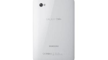 The rear of the Samsung Galaxy Tab