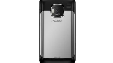 The back of the Nokia E5