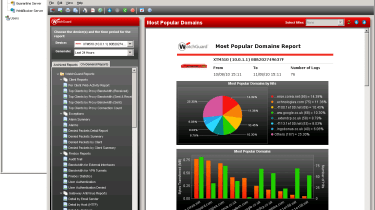 The Report Manager has good activity analysis tools for the five different WatchGuard servers.