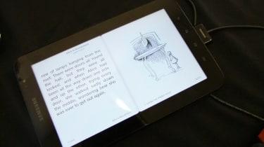 Reading an ebook on the Samsung Galaxy Tab