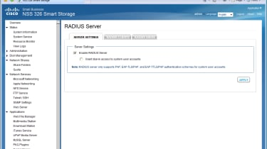 You won't find a built in RADIUS server on Qnap's TS-659 Pro and Cisco has even more apps planned for the future.