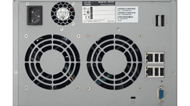 The rear of the Cisco NSS 326 Smart Storage