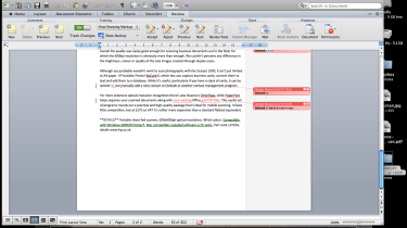 The Ribbon and Track Changes in Microsoft Word 2011 for Mac