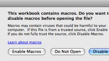 VBA macros are back in Microsoft Excel 2011 for Mac