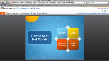 The Microsoft PowerPoint Web App