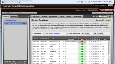 It's not as good as HP's Insight software, but Gateway's Smart Server Manager provides remote monitoring and alerting facilit