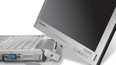 The hinge on the Panasonic ToughBook CF-C1