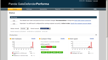 The Performa's new web interface provides an impressive amount of information about the activity and the status of each secur