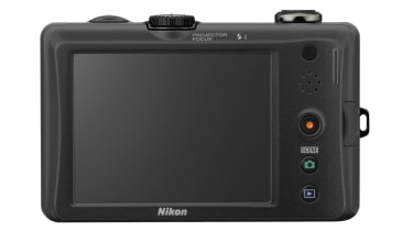 The rear of the Nikon Coolpix S1100pj