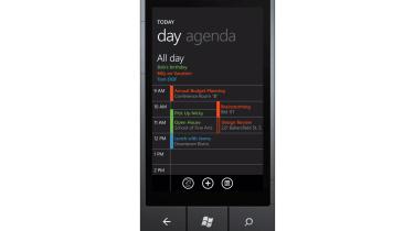 A calendar on Windows Phone 7