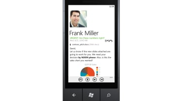 An opened email on Windows Phone 7