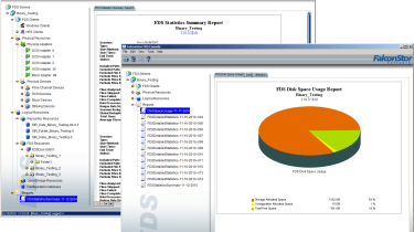 Full reporting is provided so you can keep a close eye on storage utilisation.