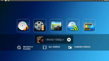 The AC100's bundled Toshiba Media Player app
