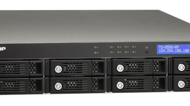 The front of the QNap TS-859U-RP Turbo NAS