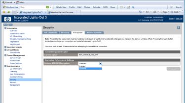 Secure management is also a new feature as the iLO3 supports encrypted links.