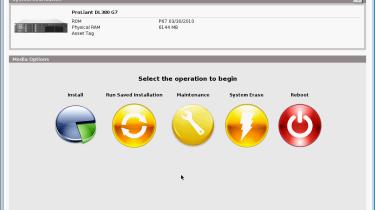 The bootable SmartStart DVD provides plenty of assistance for OS installation.