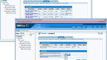 Available SAN resources are automatically discovered and need to be labelled and made ready.