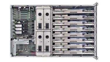 The interior of the Fujitsu Primergy RX900 S1