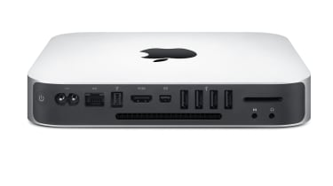 The ports on the rear of the Mac Mini Mid 2010
