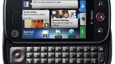 Motorola Cliq and keyboard