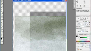 Step 4: The Clone tool now shows an overlay of what you're using to replace the image, over the space you're working in.