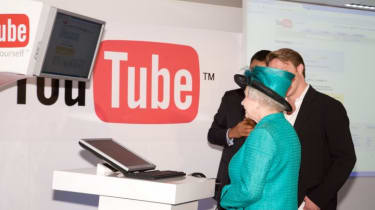 HM the Queen gets in on the techno action by uploading her video to YouTube.