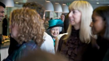 The Queen mixes with the Google crowd to find out more about what they do.