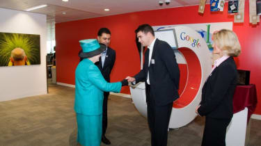 More meeting and greeting for Her Majesty during today's very busy visit.