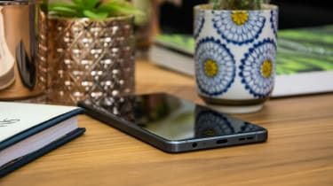 BlackBerry Motion smartphone lying on a table