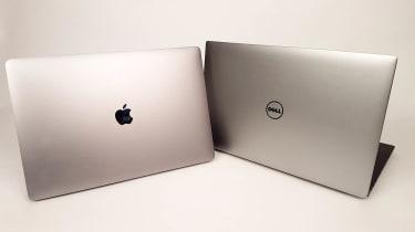 A Macbook Pro vs Dell XPS 15 graphic