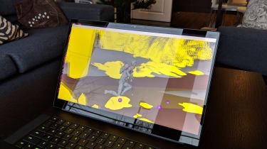 The Razer Blade 15 (2018) running a rendering workload