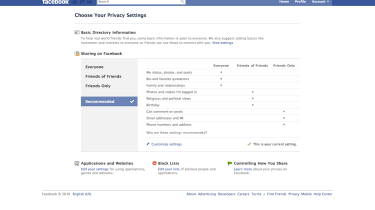 new Facebook privacy controls