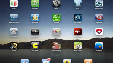 Apple iPad home screen