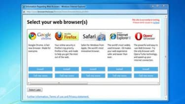 Web Browser Ballot