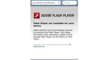 Adobe Flash notification