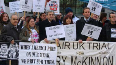 Free Gary McKinnon protest