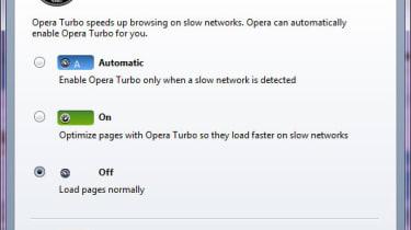 Opera Turbo settings