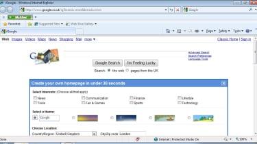 Samsung N140 Google home page