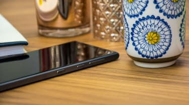 BlackBerry Motion smartphone power and volume buttons