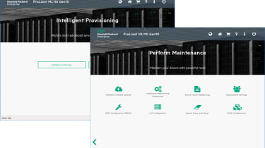 HPE iLO5 management controller Intelligent Provisioning and Maintenance tools