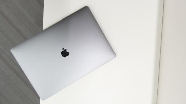 Aerial shot of the Apple MacBook Pro 15in (2018) with the lid closed