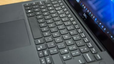Close-up of the Dell XPS 13 keyboard