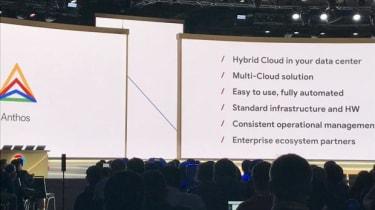 Anthos keynote address screen
